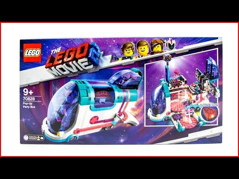 LEGO MOVIE 2 70828 Pop-Up Party Bus Construction Toy - UNBOXING