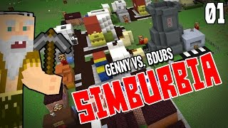 "Minecraft Sim City! Simburbia Ep 01 - ""Early Game Strategy!!!"""