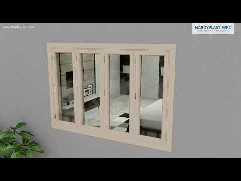 Polished WPC Window Frame