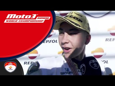 Raúl Fernández Champion 2018 Moto3™ Junior World Championship, Circuit Ricardo Tormo (Spanish)