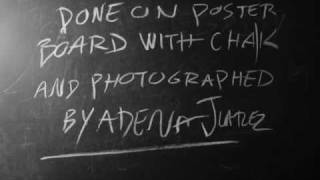 Manhole Ani DiFranco Chalk Board