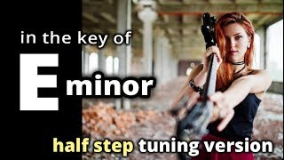 Eb minor ★ GUITAR BACKING TRACK ★ Half Step tuning ★ POST GRUNGE slow burn style