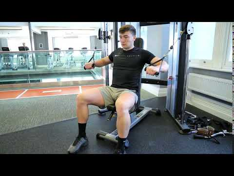 How To Do Seated Decline Cable Press | Exercise Demo
