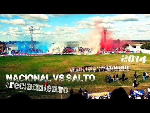 """""""#Recibimiento NACIONAL vs Salto /Amistoso/18/7/2014"""" Barra: La Banda del Parque • Club: Nacional"""