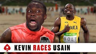 Kevin Hart Races Usain Bolt | PokerStars | Kholo.pk