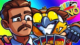 UNO Funny Moments - Teaching Silent Droid How to Dominate The Game!