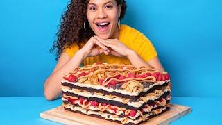 GIANT 10 LB Peanut Butter Lasagna Cake! | How To Cake It with Yolanda Gampp