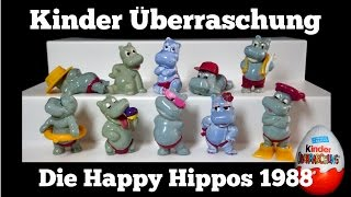 Happy Hippos in hellblau