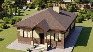Проект дома 081-B, Площадь дома: 81 м2, Размер дома:  9,5x11,2 м
