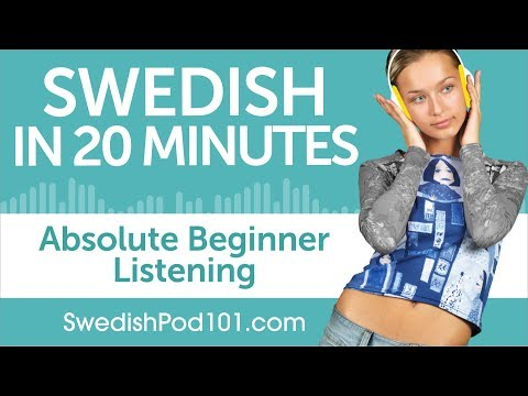 20 Minutes of Swedish Listening Comprehension for Absolute Beginner