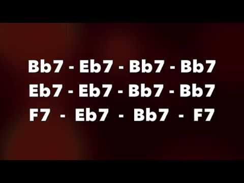 Fast Stompin' Blues Guitar Backing Track (Bb)