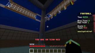 NEW FOOTBALL IN MINECRAFT MINIGAME - RED Vs BLUE Soccer - EPISODE 2