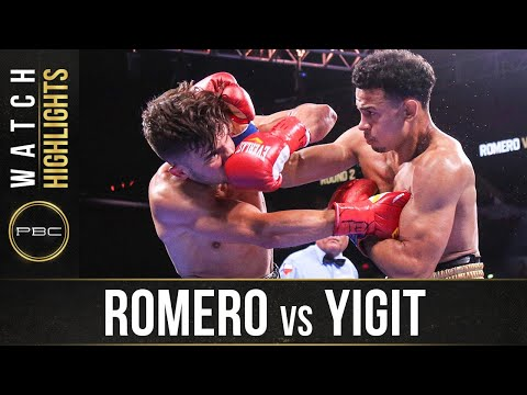 Роландо Ромеро – Энтони Йигит / Romero vs. Yigit