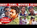Best tamil movies of 2018 | Public Opinion | 2.0 | Sarkar