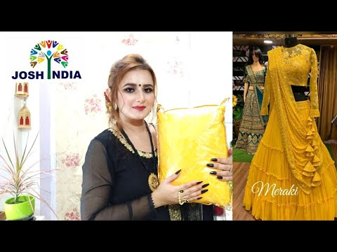 Yellow Ruffle Designer Lehenga Choli
