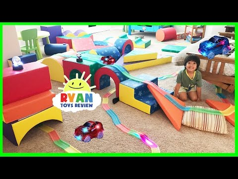 MAGIC TRACKS TOY CARS CHALLENGE! AS SEEN ON TV Toys Unboxing and Kids Playtime