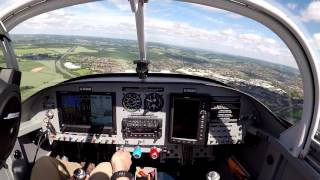 RV Aircraft Video - Vans RV-7 G-RVAH AeroExpo 2017 Wycombe Air Park arrival