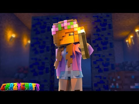 TRAPPED IN A SCARY MINE?! Crazy Craft | Minecraft Little Kelly Plays