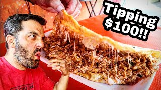 SPICIEST🌶️ Mexican Street Food & Tipping $100 Dollars With Money Sent From SUBSCRIBERS!!
