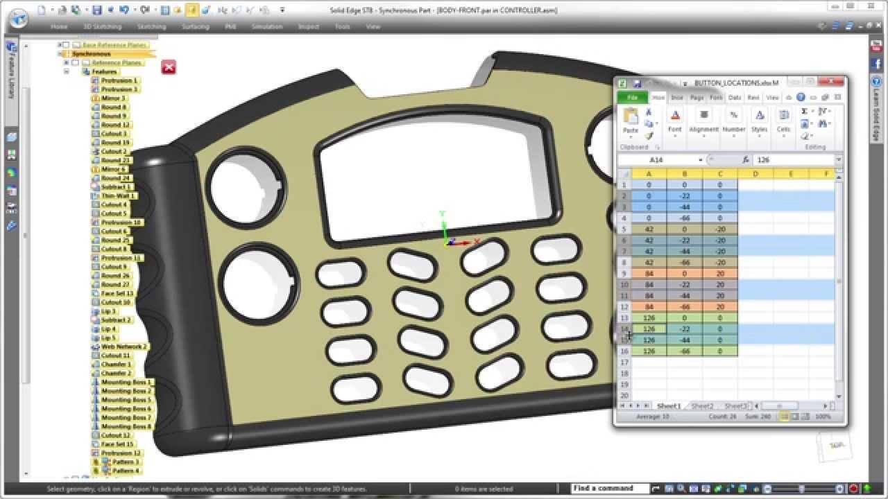 Vorschaubild: Solid Edge ST8: Individuelle Muster erstellen