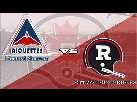 CFL - Ottawa #RoughRiders at Montreal #Alouettes - November 1, 1981