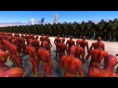 2.000 HULK vs 20.000 FLASH - Ultimate Epic Battle Simulator