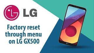 How to Factory Reset through menu on LG GX500?