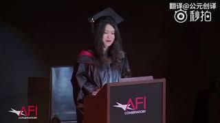 她的演讲让美国大学全场起立鼓掌!网友:这才是中国留学生应有的样子!