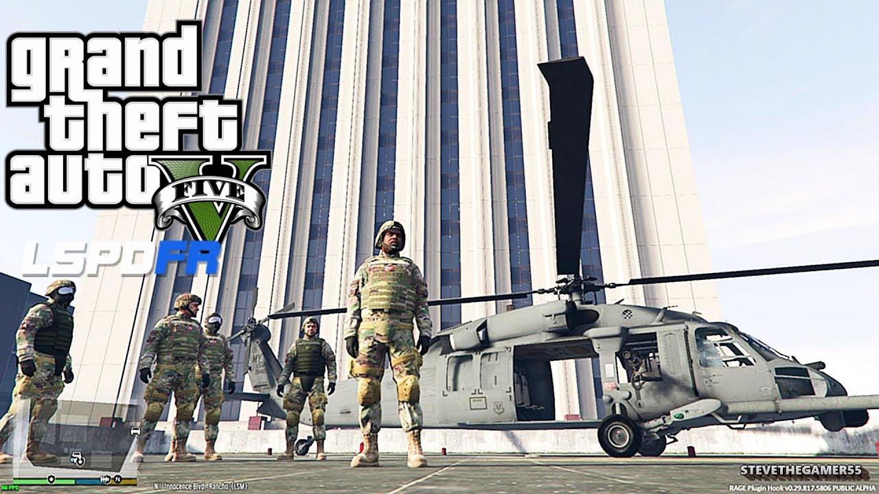 GTA 5 LSPDFR EPiSODE 128 - LET'S BE COPS - ARMY PATROL (GTA