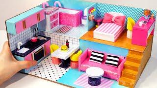 DIY Miniature Cardboard House #29   Bathroom, Kitchen, Bedroom, Living Room For A Family