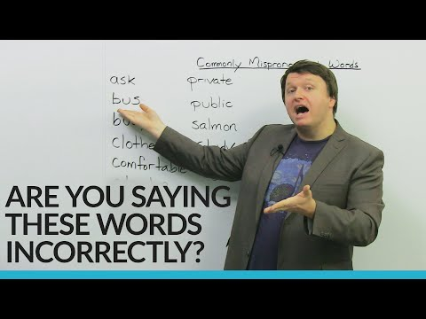 Fix these basic English pronunciation mistakes!