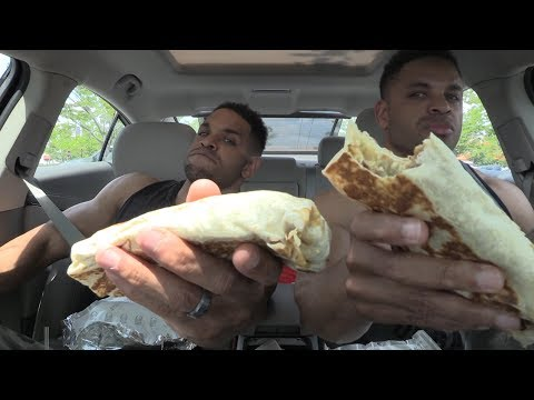 Taco Bell Steak XXL GRILLED Steak STUFF BURRITO @Hodgetwins