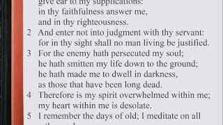Psalm 143:1-12 ♩♫ KJV Scripture Song, Full Chapter Verbatim