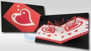Manualidades San Valentín: Cómo hacer una tarjeta corazón espiral. Valentine`s card.