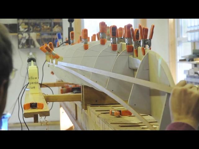 Installing the First Strips on a Cedar Strip Kayak