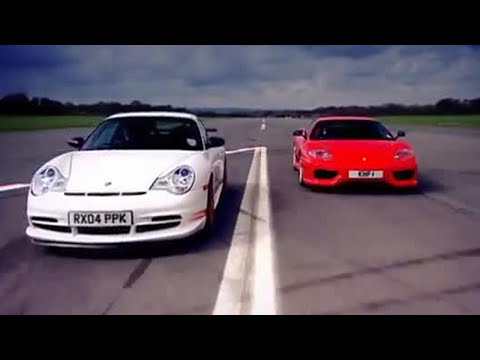Porsche GT3 v Ferrari Car Review – Top Gear – BBC