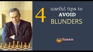 4 useful tips to avoid blunders