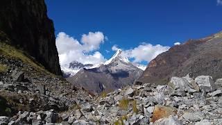 Artesonraju (Paramount) Mountain in Cordillera Blanca, Peru - May 2016