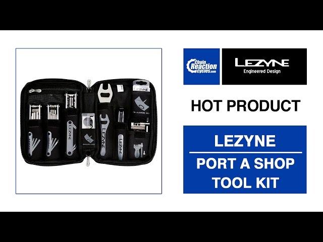 Видео Набор инструментов Lezyne Port a Shop Pro черный