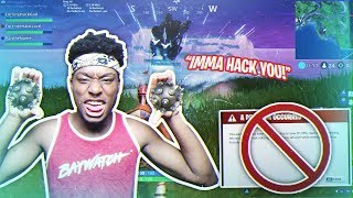 I IMPULSED 2 FORTNITE HACKERS OFF THE MAP AT THE SAME TIME! FUNNIEST SQUAD TEAM EVER!