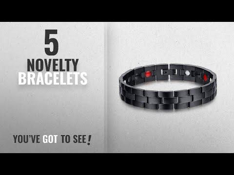 Top 10 Novelty Bracelets [2018]: Elegant Magnetic Therapy Bracelet Pain Relief for Arthritis Carpal