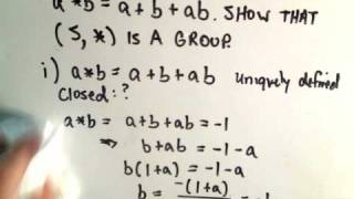 Groups - Showing G is a group - Part 1