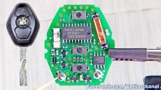 BMW SCHLÜSSEL REPARIEREN - Batterie wechseln / BMW Diamond Key Fob Battery Replacement E46 E39 E60