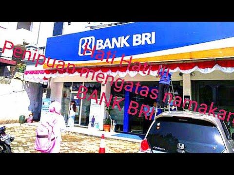 ATM BANK BRI .harap hati hati
