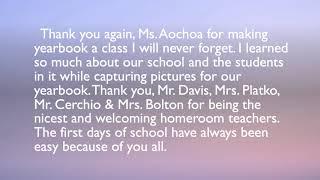 A Letter to Teachers - Teacher Appreciation