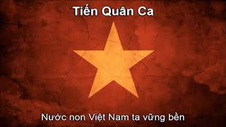 National Anthems of Vietnam and the United States (Nightcore Style With Lyrics)