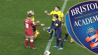 preview picture of video 'Bristol Academy WFC vs Barcelona Femini 13/11/14'