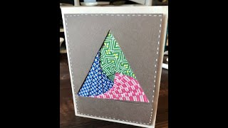 How To: Triangle Iris Folding Card | DIY Paper Craft
