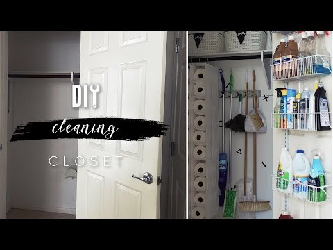 DIY Cleaning Closet