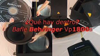 ¿Qué hay dentro? Berhinger Eurolive Vp1800s